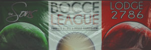 A picture of the Bocce banner