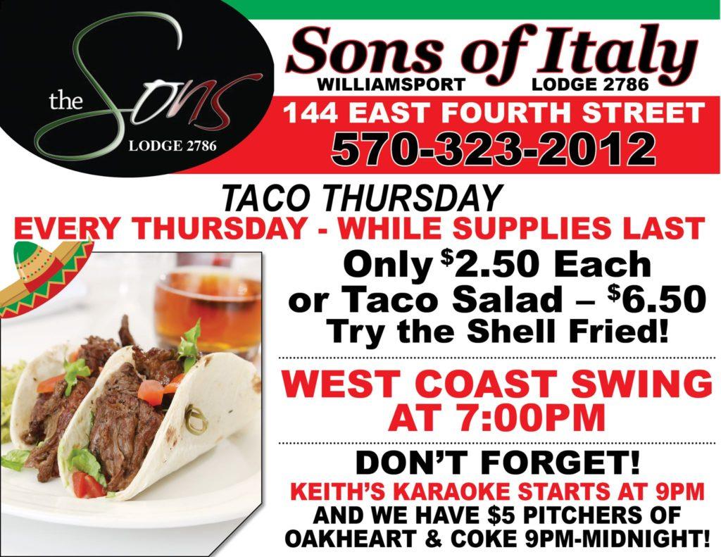 Thursday Night - Taco's, West Coast Swing & Karaoke