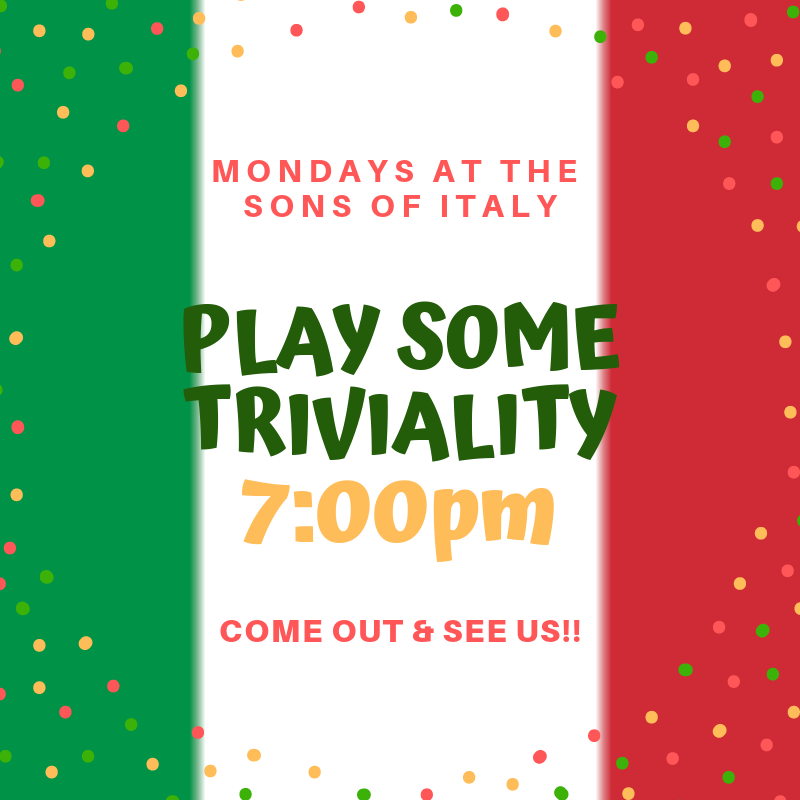 Monday - Triviality Night