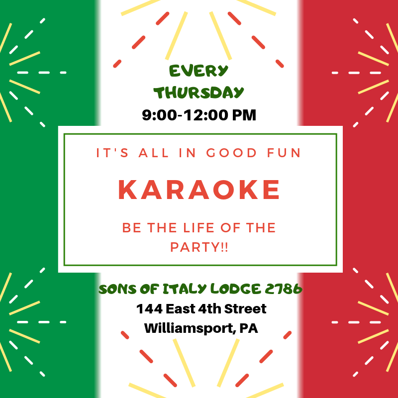 Thursday - Karaoke Night