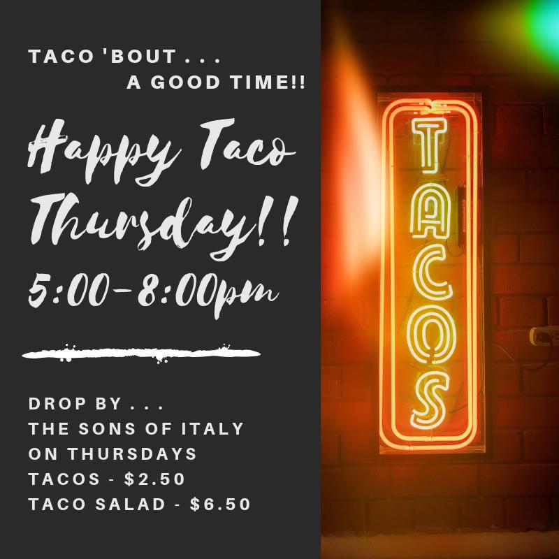 Thursday - Taco Night