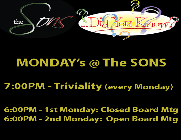 Monday Night - Triviality & Board Meetings