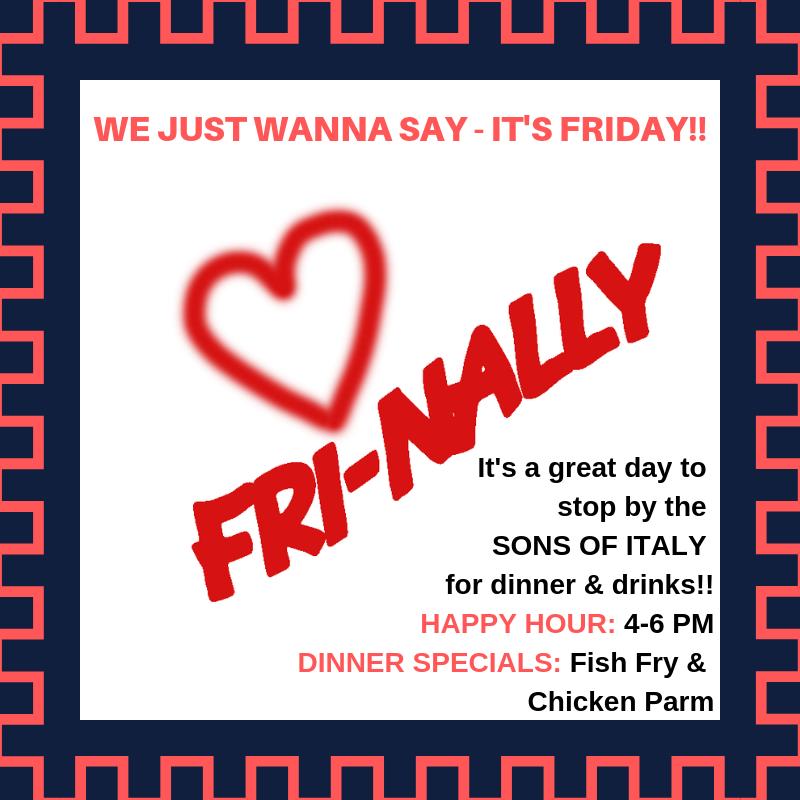 Friday - Fish Fry & Chicken Parm Night