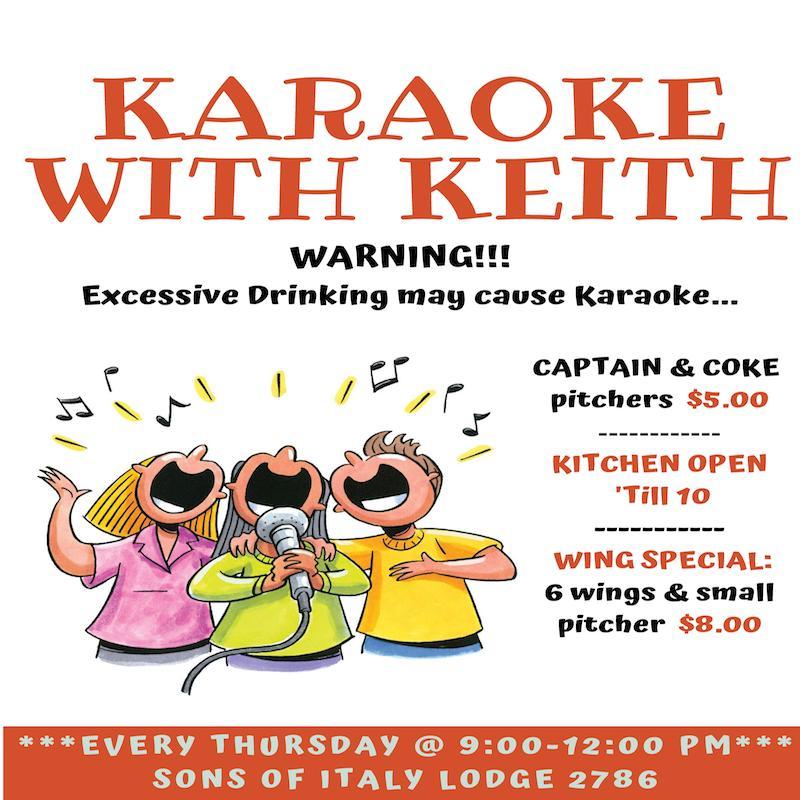 Thursday - Karaoke with Keith Night